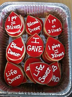 Organ Donation, Blood Donation, Blood Components, First Aid Classes, Blood Drive, American Red Cross, Bake Sale, Assisted Living, Pastries