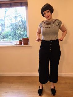 I love the @TrueBias #landerpant ! These are so flattering and on-trend. Can't wait to make more pairs. #sewing #imakemyownclothes #vintagestyle