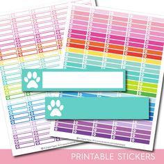 Dog stickers, Dog planner stickers, Dog printable stickers, Dog sticker, Cat stickers, Vet stickers, Paw stickers, STI-147