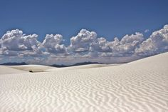 About 26 km southwest of Alamogordo and just south of the White Sands Missile Range, in the state of New Mexico, the United States, is an immense area of snow-white sand. But unlike other desert, the sand here is not composed of quartz, but gypsum crystals. Photo credit by Bryce David.