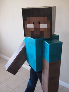 Herobrine Minecraft Halloween Costume @Heather Creswell Kauffman this would be perfect for both of the boys!!!