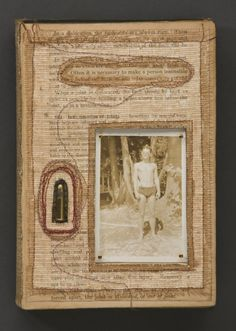 Jody  Alexander - Jody Alexander at Seager Gray Gallery showing Often it is Necessary a mixed media altered book art object.
