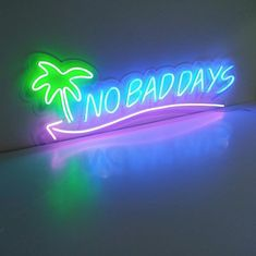 Custom Neon Signs, Neon Design, No Bad Days, The A Team, Words, Quotes, Led, Quotations, Qoutes