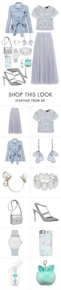 """Pastel"" by maria-stefania-cristescu on Polyvore featuring Needle & Thread, Jonathan Saunders, Ten Thousand Things, Erickson Beamon, Kim Rogers, Kate Sheridan, Valentino, A.X.N.Y., Casetify and SK-II"