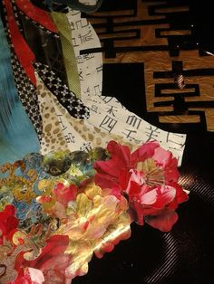 """Sortilegio"" (Detail) - Collage - Mixed Media Tecnique - @veronicamartinezcastroart; 2015"