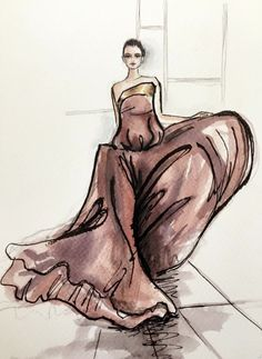 Fashion Week 2015 Illustration, by Sara Japanwalla