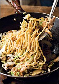 Longevity Noodles with Chicken, Ginger & Mushrooms by Grace Young