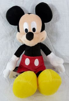 """Disney Parks Exclusive Mickey Mouse Plush Stuffed Animal Doll 12"""""""