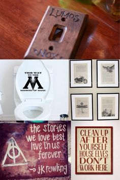 Must haves for the Harry Potter lover's home. i want the quote in the bottom left as a pillow for my reading room when i get my own place.