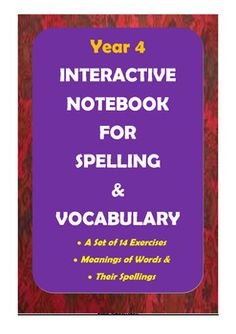 Here is a great product for improving Year 4 students' spelling and vocabulary skills. There are 14 worksheets in which meticulously selected words in line with ACARA requirements (Australian Curriculum) are included for spelling practice and vocabulary learning.