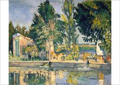 A1 Poster. Jas de Bouffan, the pool, c.1876 (oil on canvas)