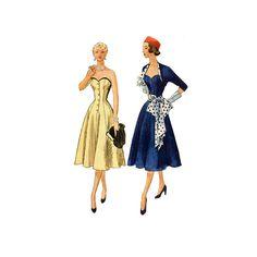 Vintage 50s Misses Sewing Pattern Strapless by retromonkeys, $75.00
