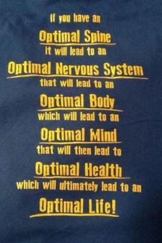 Get Adjusted to have an Optimal Spine that would lead to Optimal Body Optimal Health and Optimal Life. Chiropractic Humor, Benefits Of Chiropractic Care, Chiropractic Office, Health Logo, Health Quotes, Massage Therapy, Alternative Medicine, Acupuncture, Health And Wellness
