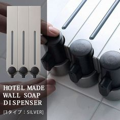 Wall-mounted dispenser refill bottle slim shampoo fashionable refillable container wall wall wall wall dispenser rinse conditioner body SOAP body SOAP bath ...