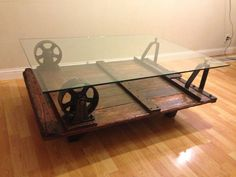 Upcycled Industrial Cart Table by STolerDesigns on Etsy, $895.00