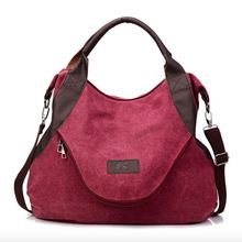 Canvas Shoulder Bag Women Canvas Handbags Tote for Femme 2018 Large Pocket Casual Women's Crossbody Bag Leather Capacity Bags Canvas Crossbody Bag, Canvas Messenger Bag, Crossbody Shoulder Bag, Shoulder Handbags, Canvas Tote Bags, Shoulder Bags, Tote Purse, Backpack Bags, Fashion Backpack