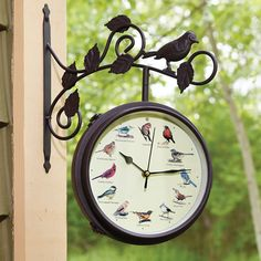 The Serenading Songbirds Outdoor Clock - Hammacher Schlemmer #HammacherHolidays