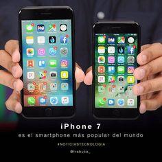 """""""El iPhone 7 es el smartphone más popular del mundo Un estudio de Strategy Analytics, que realiza cada año, muestra que el iPhone 7 es el smartphone más vendido y el más conocido dentro del sector. Apple demuestra que su producto estrella: el iPhone 7, es el favorito en la preferencia del consumidor, La marca californiana se ha posicionado en el gusto de los usuarios incluso más que su competidor más cercano, el Galaxy de la marca surcoreana Samsung, el smartphone más usado en sistema…"""