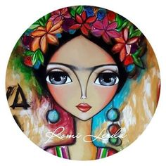 Ink Painting on fabric Pottery Painting, Ink Painting, Fabric Painting, Round Canvas, Frida Art, Arte Popular, Pebble Art, Face Art, Painting Inspiration