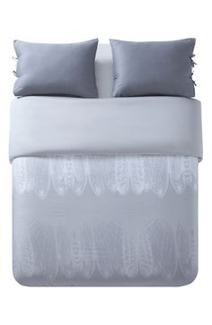 Free shipping and returns on kensie 'Ingrid' Duvet Set at Nordstrom.com. Ghostly feathers decorate a grey-tone duvet cover accompanied by two tie-closure shams.