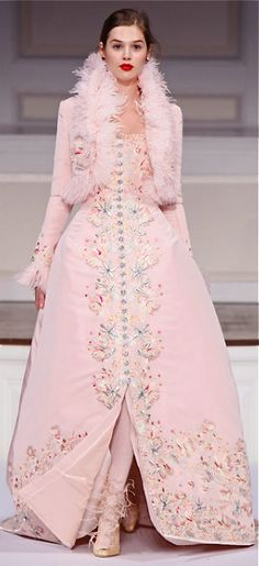 Oscar de la Renta pink coat dress - stylish!