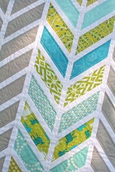Chevron Baby Quilt Done! by Freshly Pieced
