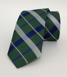 Green and Sax Blue Mens Tie 6 cm (2,36 #handmadeatamazon #nazodesign