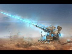 Particle Cannon for Planetary Defense. By: Dmitry Desyatov Sci Fi Weapons, Weapon Concept Art, Fantasy Weapons, Zoids, Future Weapons, Tech Art, Spaceship Design, Sci Fi Ships, Fantasy City