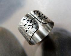 Anillo anillo de plata esterlina anillo de banda ancha por Mirma
