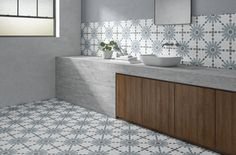 Indoor/outdoor wall/floor tiles with encaustic effect ARUBA By Harmony Wall And Floor Tiles, Wall Tiles, Tile Art, Spanish Tile, Encaustic Tile, Bathroom Goals, Wall Patterns, Floral Patterns, Color Tile