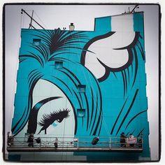 DFace @ Paris... Work in progress Ça avance ça avance... Photo : Lionel Belluteau Plus de photos sur https://ift.tt/YMhG58  @dface_official @galerie_itinerrance #streetart13 #dface #d_face #paris #graffiti #parisgraffiti #urbanart #wallpainting #urbanartparis #itinerrance #galleryitinerrance @mairie13paris #lionelbelluteau @unoeilquitraine