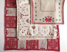 Шевиците на баба :)   My granny's hand embroidered traditional Bulgarian table runners.