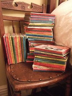Lady bird books. my mom collected these when she was a little girl living in England.
