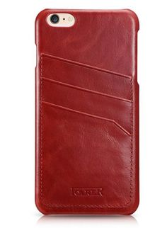 iCarer iPhone 6 Plus/ 6S Plus Vintage Card Slot Back Cover Series Genuine Leather Case