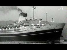 The beautiful ill fated Italian Luxury Liner SS Andrea Doria Andrea Doria, Horrible Histories, Mystery Of History, Ways To Travel, Shipwreck, Ocean, Cruise Ships, Interesting Stuff, Queens