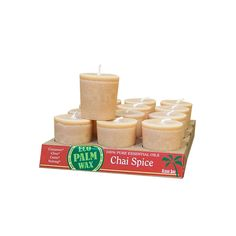 Aloha Bay Candle Votive Essential Oil Chai Spice - 12 Candles - Case of 12