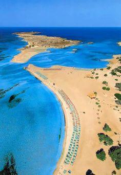 #Crete island,Elafonissi beach