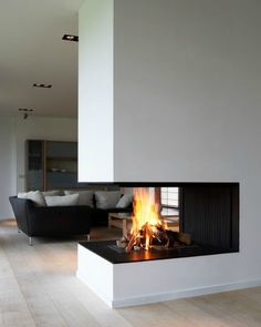 #modern architecture - fireplace - metalfire - universal - wood-burning open fireplace. Neat. Like, pin, Share :-)