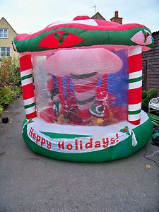 Giant Outdoor Inflatable Carousel With Rotating Centre Over 10ft High Wide