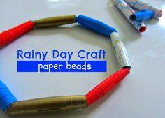 I love making paper beads!!!