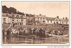 Salmon fishing at Shaldon Devon Uk, South Devon, Salmon Fishing, Vintage Photographs, Paris Skyline, Louvre, World, Places, Cards