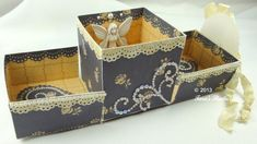 One-Piece Gift Box with Cutting File and Manual Template