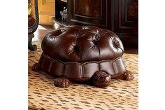 Sillón estilo Chesterfield en forma de tortuga