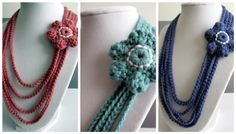 Love City: Get Hooked! {5} Crochet Flower chain necklace