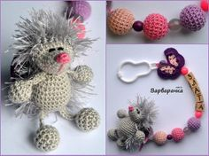 #sootherclip with #amigurumi small #hedgehog