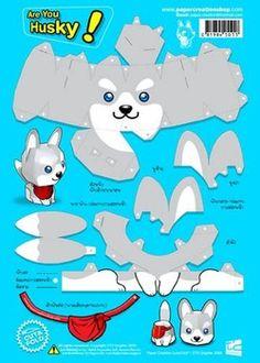 Kết quả hình ảnh cho papercraft dog