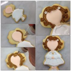 Tutorial 2 cookie decorating of a young girl