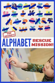 The letters need saving and your toddler is the perfect hero. The mission is to find the missing letters and return them to their homes. This fun indoor activity is great for early letter recognition and problem solving skills! - Education and lifestyle Indoor Activities For Kids, Kids Learning Activities, Alphabet Activities, Toddler Learning, Preschool Activities, Teaching Kids, Abc Alphabet, Teaching Toddlers Letters, Letter Identification Activities