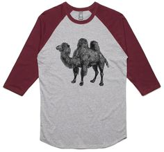 theIndie Egyptian Camel (Black) 3/4-Sleeve Raglan Baseball T-Shirt