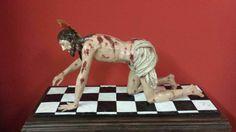 Cristo del Mayor Dolor (Antequera). Reproducción a escala policromada realizada después de la digitalización. #backup3D http://vimeo.com/84415092
